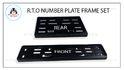 R.T.O Number Plate Frame Set