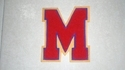 M letter patch - Chenille