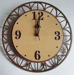 Brown Analog Wall Clock