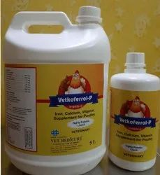 Iron With Calcium Vitamins Liquid Supplement For Poultry