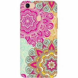 Plastic Multicolor Oppo Mobile Back Cover