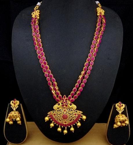 Shourya exports 18k ad temple jewelry set at rs 900 piece malad shourya exports 18k ad temple jewelry set aloadofball Choice Image