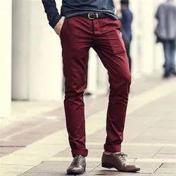 Plain Mens Designer Cotton Trouser, Size: 28 - 36
