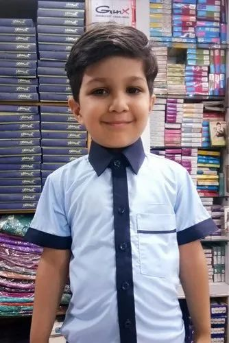 a15ea911ceea Cotton Half Sleeves Boys School Uniform, Size: XS And Small, Rs 275 ...