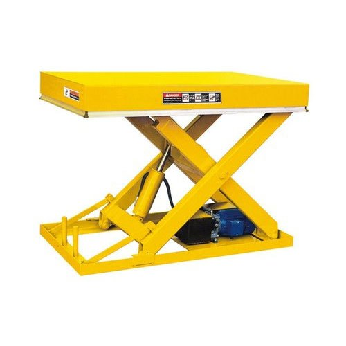 Mild Steel Electric Portable Scissor Lift Tables for Warehouses, Capacity: 5-10 Ton