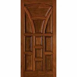 Polished Brown Teak Wood Door, For Home, Size: 7 X 3 Ft