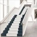 Gloss White And Blue 3d Stair Tiles, Thickness: 10 - 12 Mm