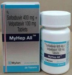 Myhep All Sofosbuvir400mg Velpatasvir 100mg