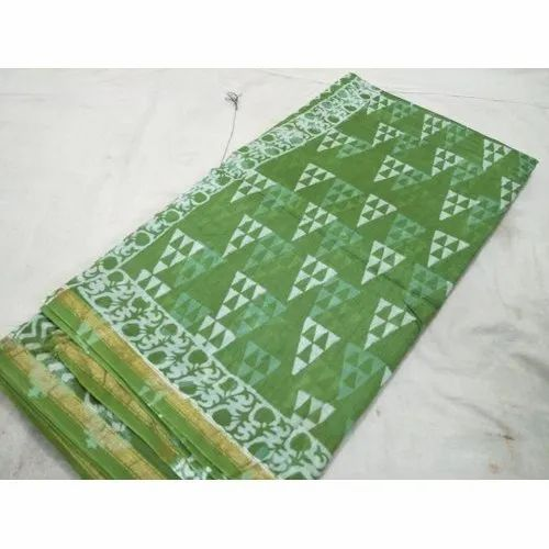 Trendy Indigo Chanderi Saree, Packaging Type: Box