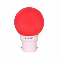 Round 0.5 W Philips B22 0.5w Red LED Bulb Deco Mini