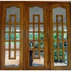 Oak Wood Designer Window