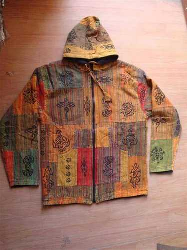 02ec308f9074 Quilted Jacket Cotton Ethnic Vintage Patch Embd. Garments