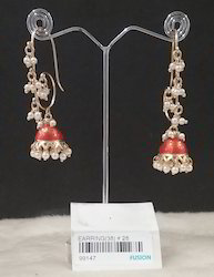 Trendy Pearl Jhumka Earrings