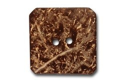 Brown Square Coconut / Coconut Shell Garment Button, Packaging Type: Polypack