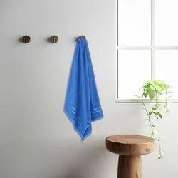 Welspun 1041960 XL Blue Quick Dry Cotton Bath Towel