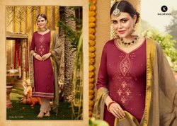 Kalarang Jam Silk Cotton Unstitched Dress Material