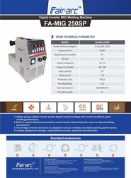 Fair Arc IGBT Controlled MIG Welding Machine 250amps