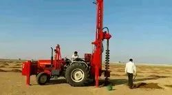 Tractor Mounted Earth Auger Drilling