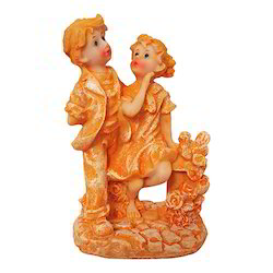 Marble Look Beautiful Boy Girl Statue/ Showpiece Gift Item