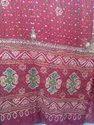 Pink Bandhani Gharchora Saree