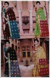 Fancy Silk Saree With Zari Work