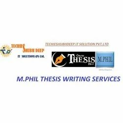 1 Day Time M.PHIL Thesis Writing Services, in Client Side