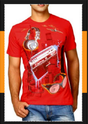 Mens Red T - Shirts