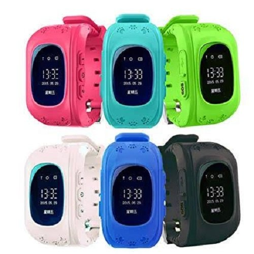 Black GPS Tracker Q50 Smart Watch For Kids, Screen Size: 3 Inch ...