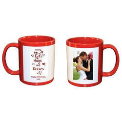 Sublimation Red Patch Mugs