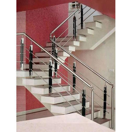Stainless Steel Indoor Stair Railing, Rs 450 /square Feet