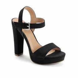 Black No Heels Footwear