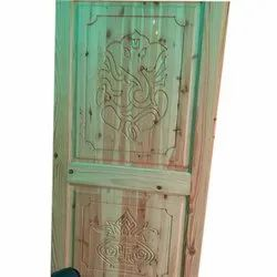 Interior Finished Pine Wood Door CNC Cut, for Home