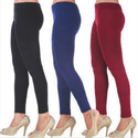 Real Dream Casual Wear Viscose Plain Ankle Length Leggings, Size: S-xxl