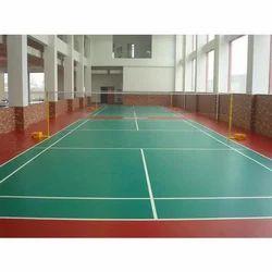 Green Indoor Sports Flooring