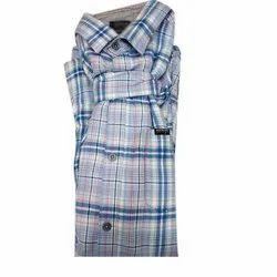 Checks Casual Wear Mens Check Cotton Shirt, Size: S-XXL