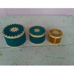 Bamboo Designer Round Gift Box