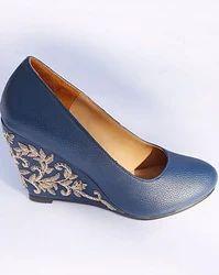Blue Leatherite Shoes Vsh14101622