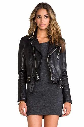 92f72feafbbb Black Luis Leather Womens Lambskin Leather Jacket Biker Jacket, Rs ...