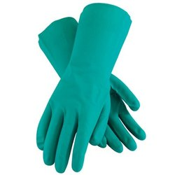 Rubber Green Chemical Resistant Glove