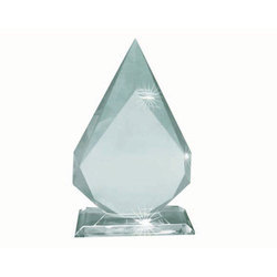 Beveled Edge Crystal Flame Trophy