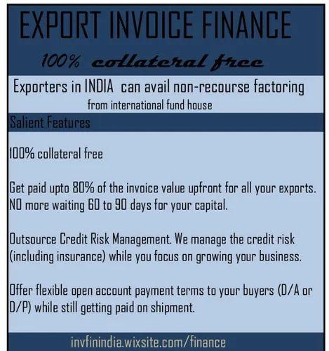 Export Invoice Financing, Export Finance Services