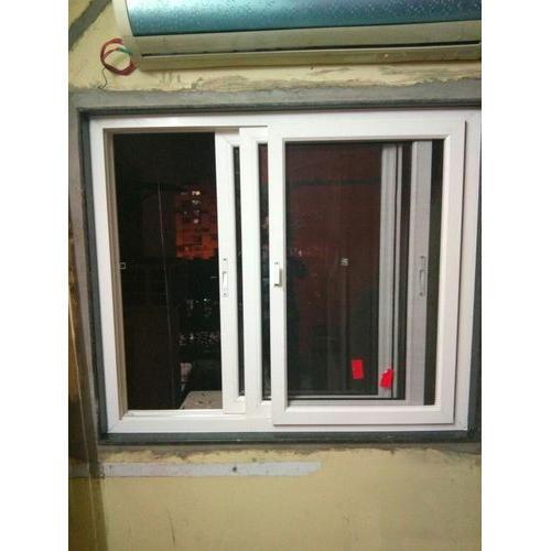 Saint Gobain And National White Frame Aluminium Sliding Window Rs