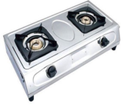 Surya Silver Stainless Steel Two Burner Gas Stove