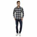 Regular Wear Solid Check Shirt