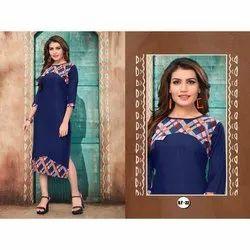 Formal Wear Designer Rayon Kurti