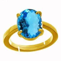 Blue Topaz Ring Panchdhatu Gemstone