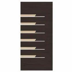 Brown Paint Coated Panel Door, Size/Dimension: 7 x 3 Feet