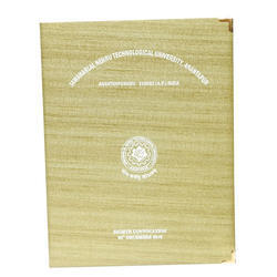 Single Pocket Khadi Convocation File