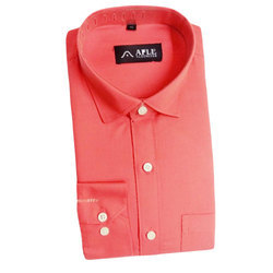 AFLE Blended Cotton Mens Full Sleeves Plain Shirt, Size: M and L