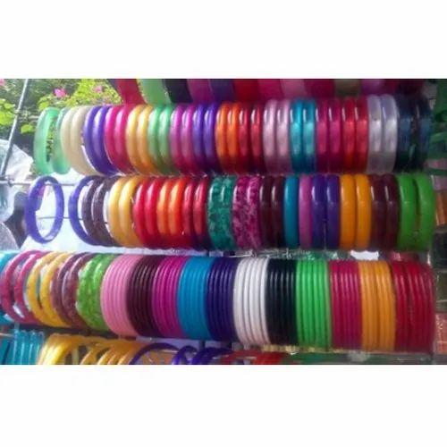 Multicolor Round Plain Plastic Bangle Set, Size: 2.2 2.4 2.6 2.8 Inch